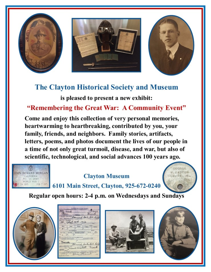 WWI Exhibit Flyer 2018 ongoing